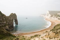 Scenic Durdle Door, Lulworth Cove Landscape Stock Photography