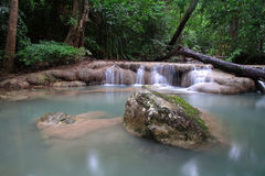 Scenic of Erawan Waterfall Royalty Free Stock Image