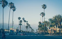 Scenic evening in Santa Monica. A trip to Los Angeles, California, USA royalty free stock photo
