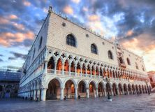Scenic evening scene Piazza San Marco, Venice. Royalty Free Stock Photography
