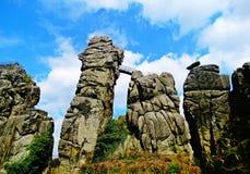 Scenic Externsteine rocks Royalty Free Stock Image