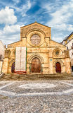 Scenic facade of the ancient Cosenza's Cathedral, Italy Royalty Free Stock Photography