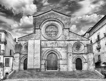 Scenic facade of the ancient Cosenza's Cathedral, Italy Stock Photography