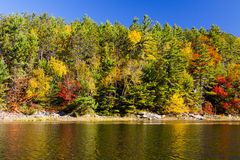 Scenic Fall Colors on the Water Stock Photos
