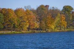 Scenic fall landscape in the Carmel  NY . Royalty Free Stock Image