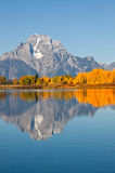 Scenic Fall Landscape Reflection Royalty Free Stock Photography