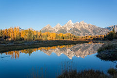 Scenic Fall Landscape Reflection Royalty Free Stock Images