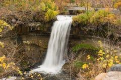Scenic Falls. This is the Minnehaha Falls in Minneapolis, Minnesota Royalty Free Stock Photos