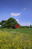 Scenic farm lands with Barn Stock Image