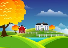 Scenic farm landscape Stock Photo