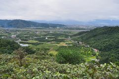 Scenic farming area at Yilan Royalty Free Stock Photos