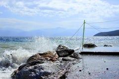 Scenic fishing village of Galaxidi in Greece Stock Image