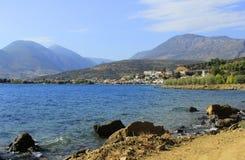 Scenic fishing village of Galaxidi in Greece Royalty Free Stock Photo