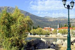 Scenic fishing village of Galaxidi in Greece Royalty Free Stock Photo