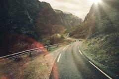 Scenic Fjord Car Trip Stock Photos