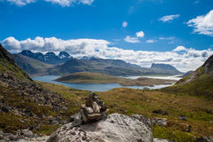 Scenic fjord on Lofoten islands Stock Photography