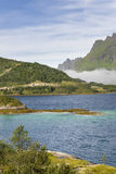 Scenic fjord on Lofoten islands Stock Images