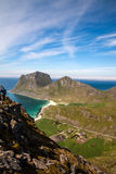 Scenic fjord on Lofoten islands with typical Stock Image