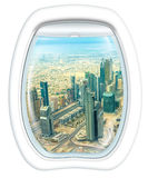 Scenic flight in Dubai Downtown Stock Images