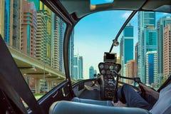 Scenic flight in Dubai Royalty Free Stock Photos