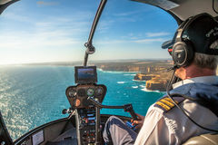Twelve Apostles Helicopter  Royalty Free Stock Photography