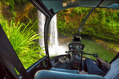 Scenic flight Manawaiopuna Falls Royalty Free Stock Image