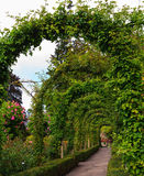 Scenic flowers twined arches Stock Image