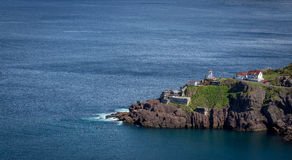 Scenic Fort Amherst along the Newfoundland Coast. Popular tourism destination, scenic Fort Amherst guards the entrance to the St. John's narrows. It has old royalty free stock image
