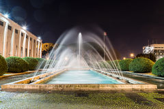 Scenic fountain, neoclassical architecture in the EUR district, Stock Photos