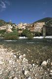 Scenic France, Herault, Roquebrun stock images