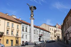 Scenic generic architecture in Uzupio, Old town of Vilnius, Lithuania Stock Image