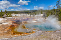 Scenic Geothermal Hot Springs Royalty Free Stock Image