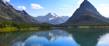 Scenic Glacier national park. Two medicine lake in Glacier national park Royalty Free Stock Photography