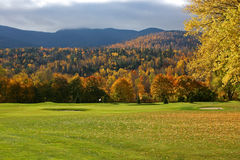 Scenic golf course in autumn Stock Images