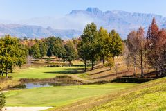 Scenic Golf Course Mountains Royalty Free Stock Photography