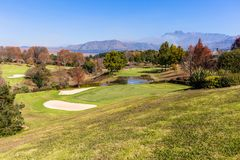 Scenic Golf Course Mountains Stock Photography