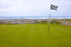 Scenic Golf Green with Ocean Views Stock Images