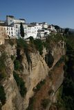 Scenic gorge at Ronda. Deep gorge in Ronda, Spain Royalty Free Stock Photos