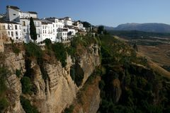 Scenic gorge at Ronda stock image