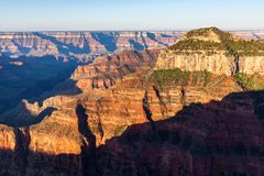 Scenic Grand Canyon North Rim Beauty. The rugged beauty of the grand canyon from the north rim Stock Images
