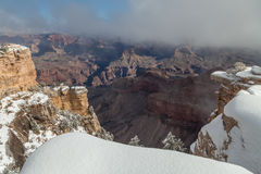 Scenic Grand Canyon in Winter Royalty Free Stock Photography