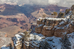 Scenic Grand Canyon in Winter Stock Image