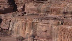 Scenic Grand Falls Arizona stock footage
