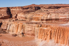 Scenic Grand Falls Arizona Royalty Free Stock Photos