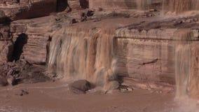 Scenic Grand Falls Arizona Zoom In stock footage