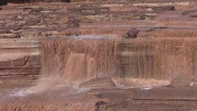 Scenic Grand Falls Arizona Zoom Out stock video footage