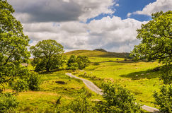 Scenic green countryside landscape Royalty Free Stock Images
