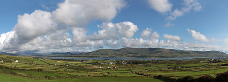 Scenic green landscape in Ireland Royalty Free Stock Images