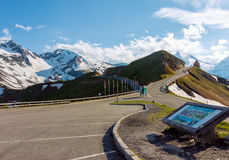 Scenic Grossglockner alpine road Stock Photography