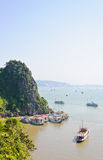 Scenic of Halong bay Stock Image